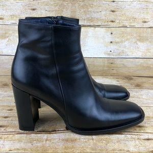 J. Crew Leather Block Heel Boots